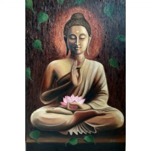 Buddha - Oil On Canvas Painting - 24x36