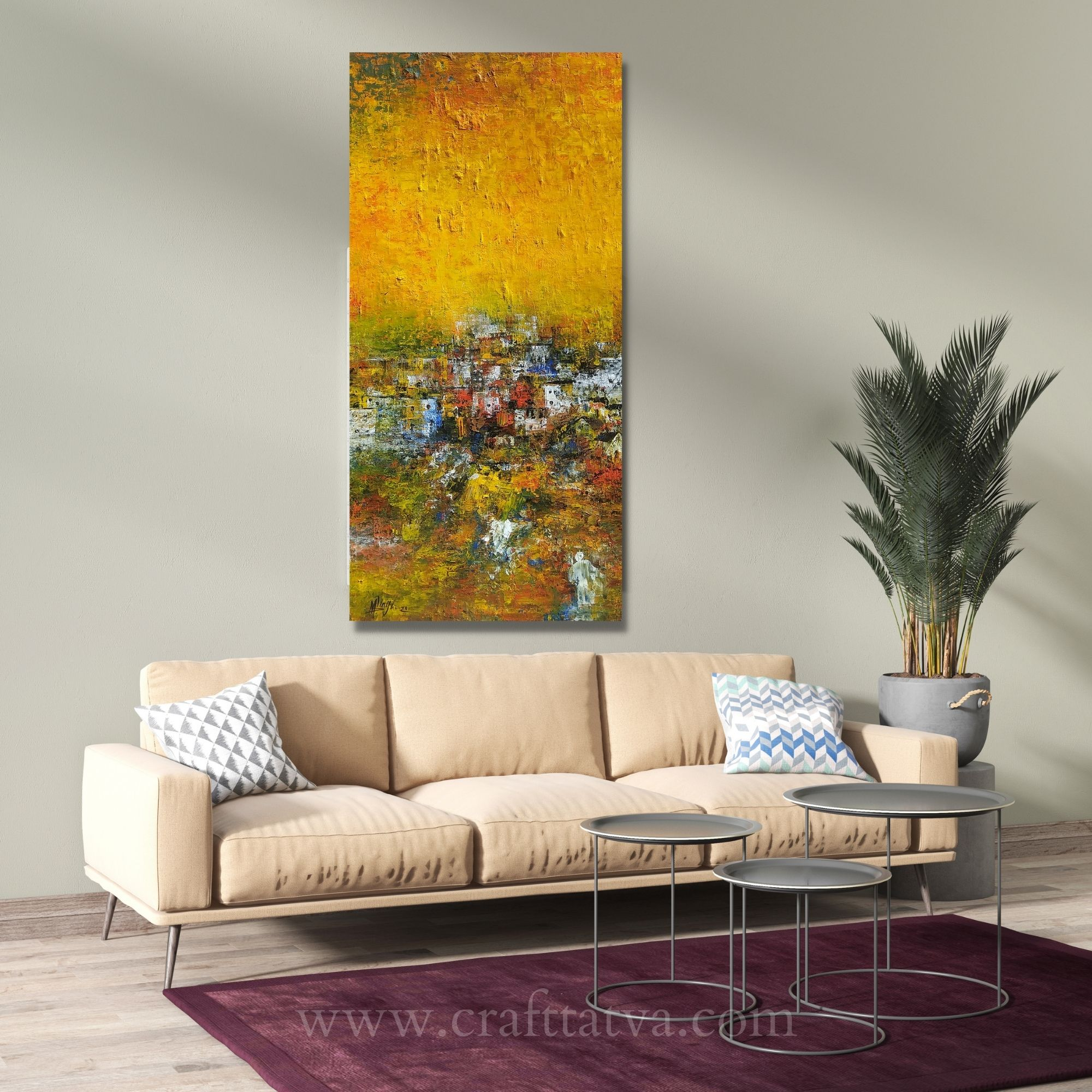 My Home Town 21, Acrylic on Canvas, 30 x 15 in.