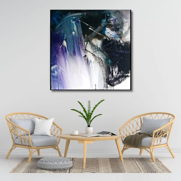 Space Series 12 - Acrylic On Canvas - 46x46 inch