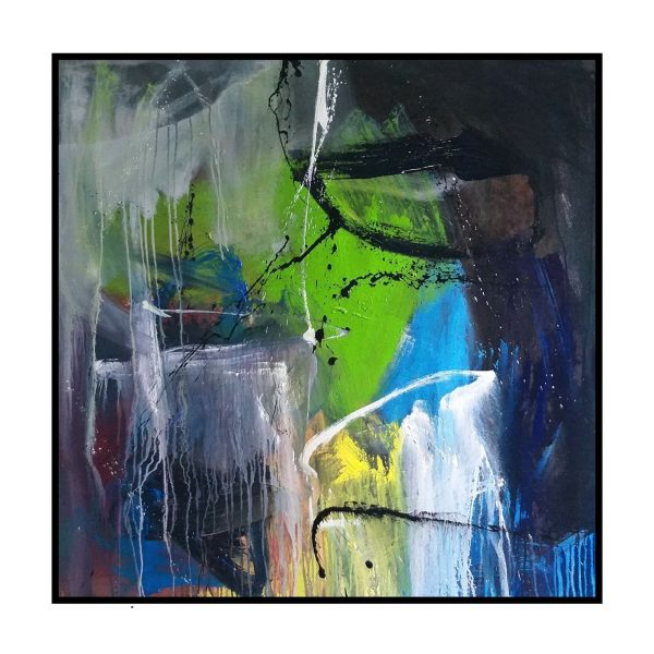 Space Series 9 - Acrylic On Canvas - 48x48 inch