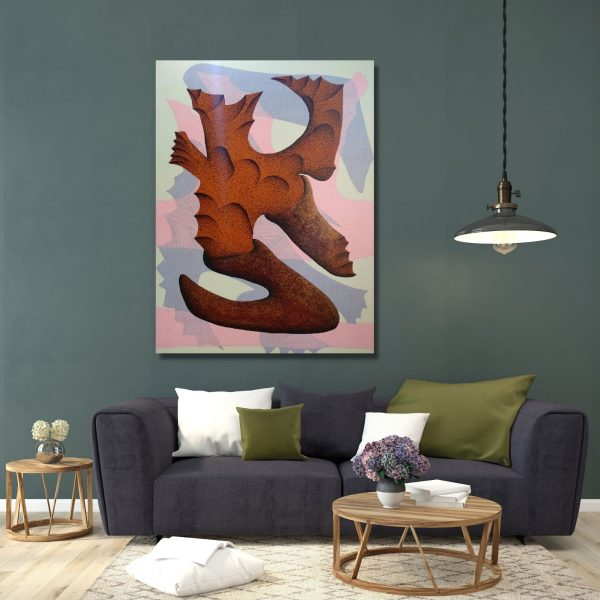New Stone Age 6 - 36x48 inch - Mixed Media On Canvas
