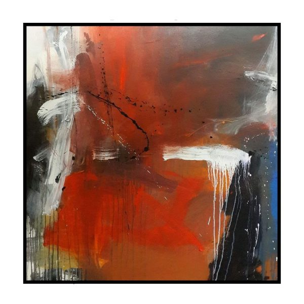 Space Series 6 - Acrylic On Canvas - 46x46 inch