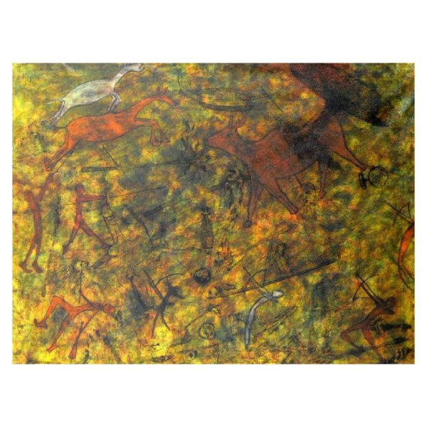 New Stone Age 7 - 36x48 inch - Mixed Media On Canvas