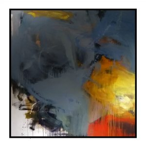 Space Series 3 - Acrylic On Canvas - 70x70 inch