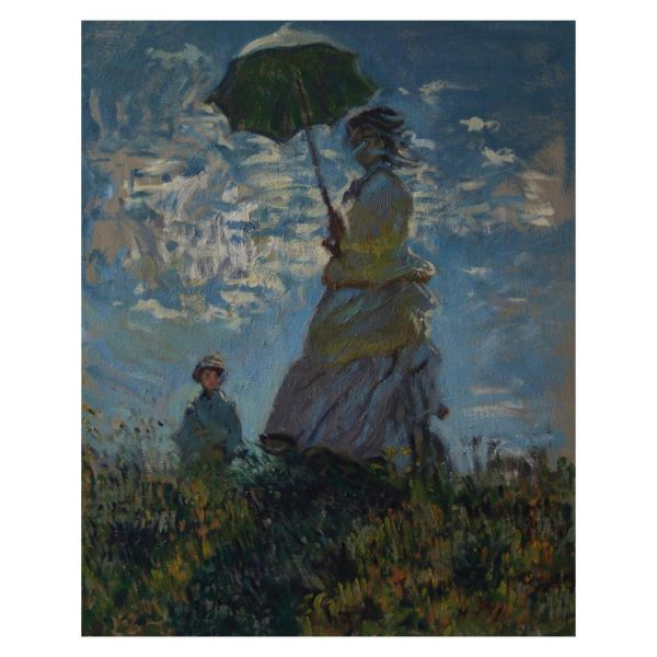Woman with Parasol (Copy) - 16x20 inch - Oil On Canvas