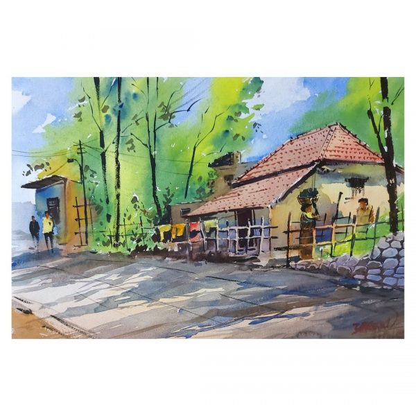 Old House 2 - Watercolor on Handmade Paper - 38 cm x 56 cm