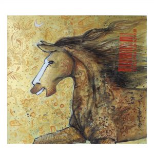 Golden Horse - Acrylic On Canvas - 22x22 inch - 15