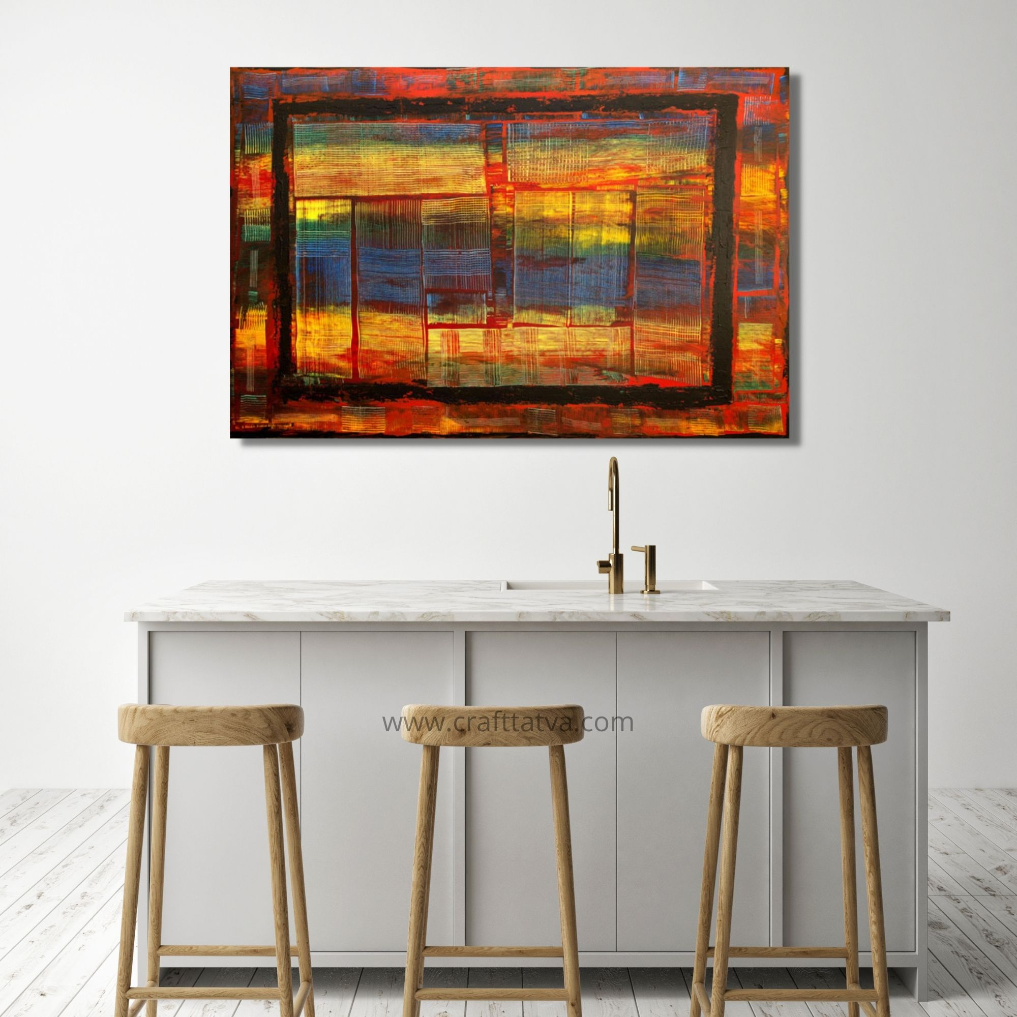 Abstract 1 - Acrylic on canvas - 6 X 4 ft