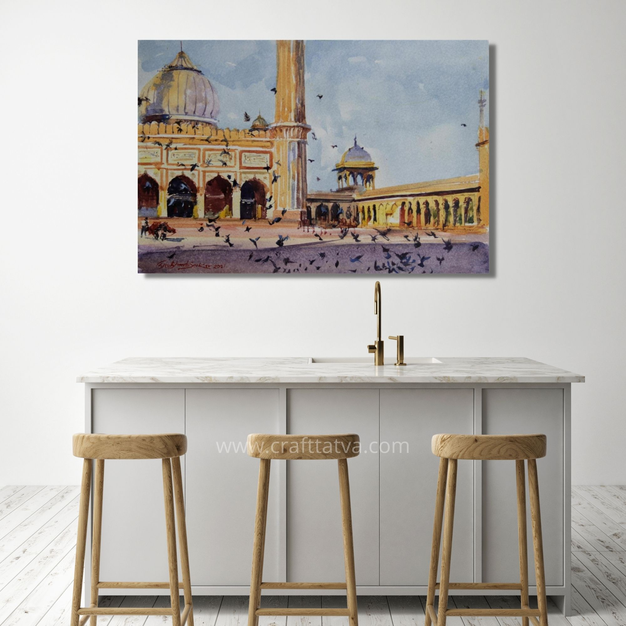 """Jama Masjid -02 """"9x13 inches"""" Watercolor on paper"""