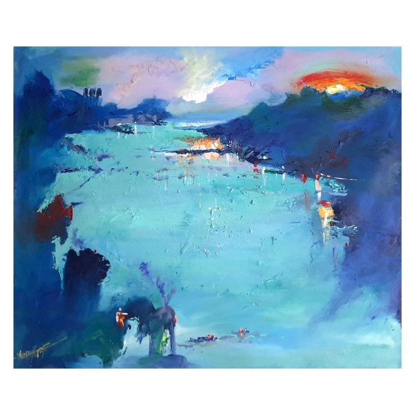 Blue River_36inchX30inch(Oil Colors On Canvas)