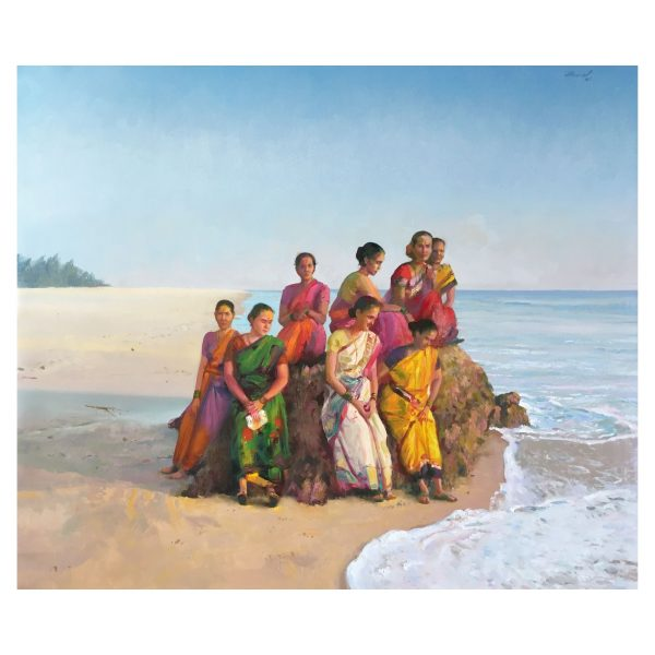 Daughters Of The Sea_46'x 53' inch_Oil-On-Canvas