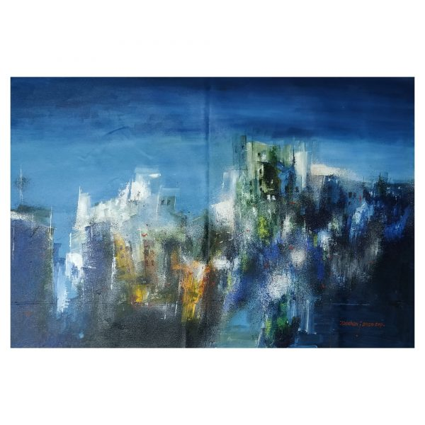 ABSTRACT LANDSCAPE - Size 24x32 inch - Surface CANVAS - Medium ACRYLIC