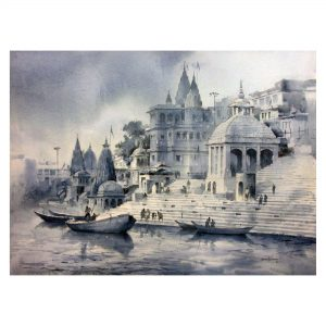 Varanasi - watercolor on paper - 22 x 30 inch