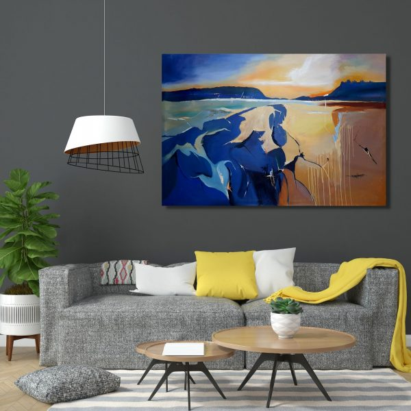 Sunlight at the centre-72inchX48inch(Acrylic Color on Canvas)