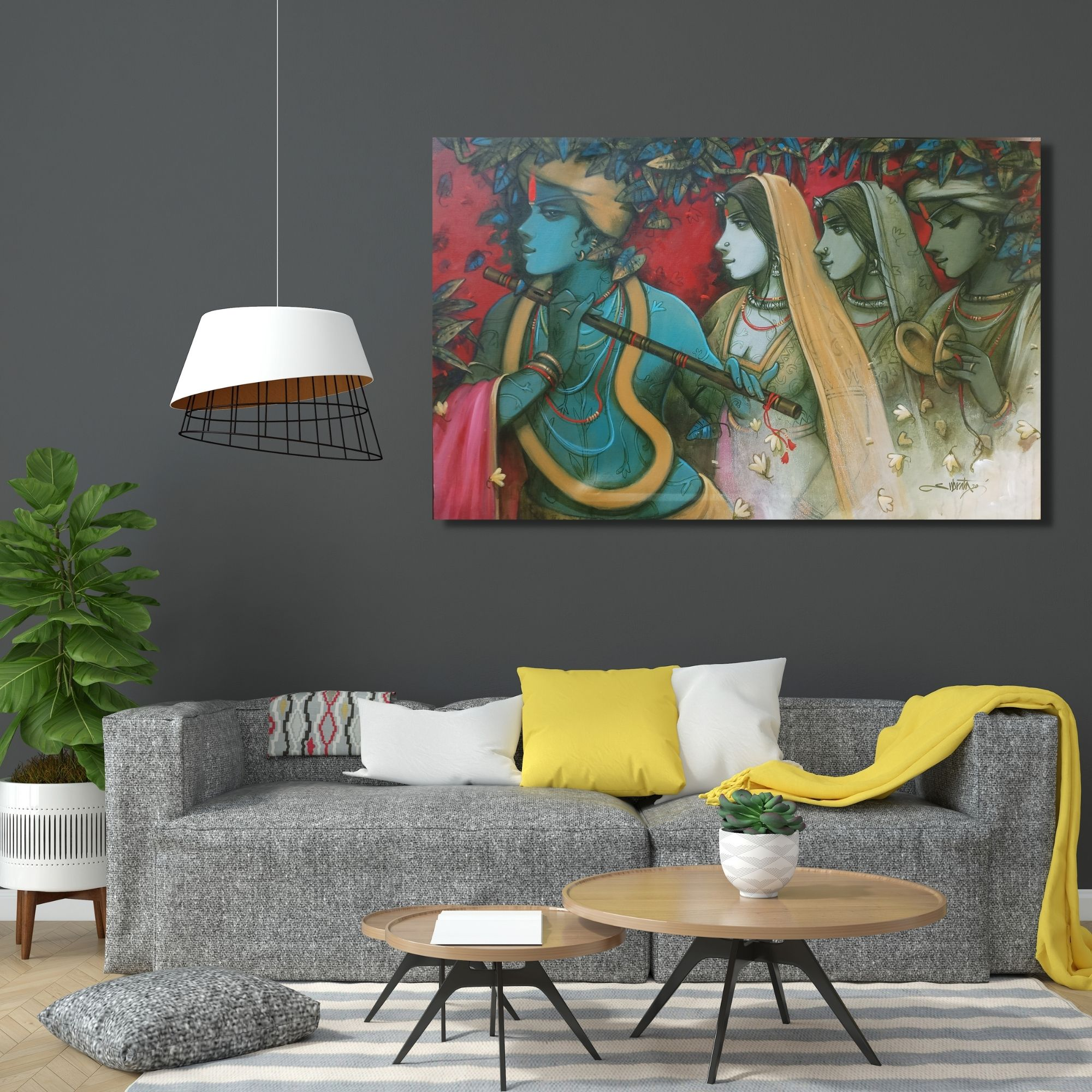 TUNE OF LOVE - 30x48 inches - Acrylic on canvas