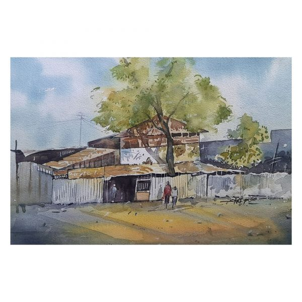 Steel Compound-12X18inch-Watercolor