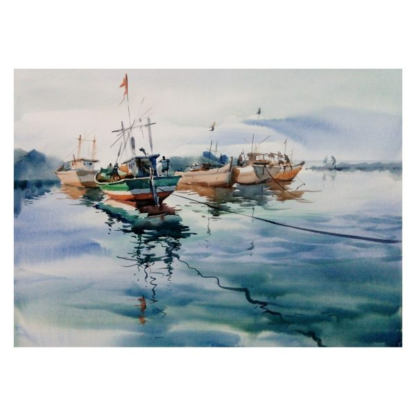 Seascape - 22 x30 inch - Watercolor On paper