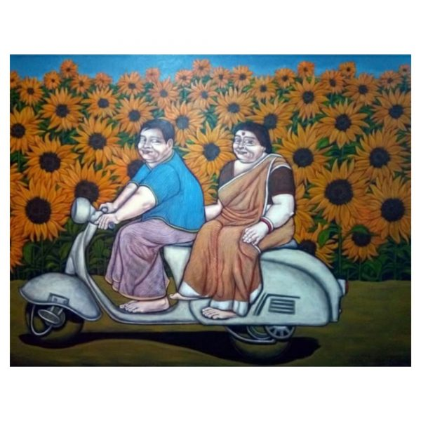 ONE DAY OUTING-ACRYLIC ON CANVAS-84X48 INCH