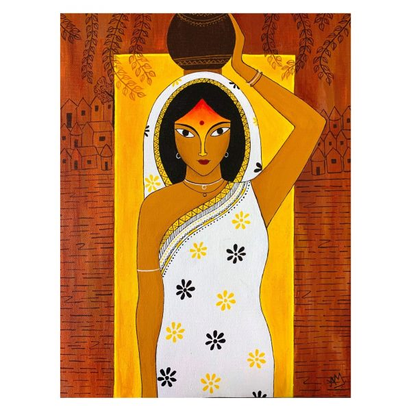 The Indian Village Belle_18x14in_Acrylic on Canvas