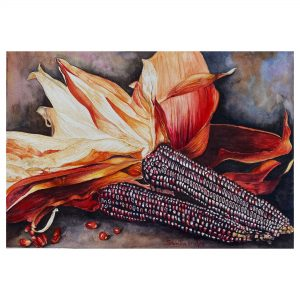 Flint_The Symbol of Harvest - WaterColor - 12x16.5 Inch