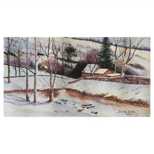 Colors of Winter - WaterColor - 18.5x10.5 Inch