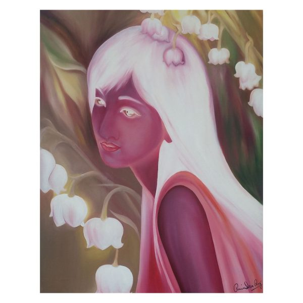Beauty and Nature - Oil On Canvas - 2x2.3 feet
