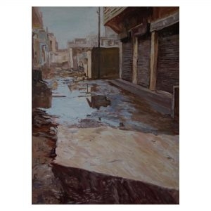 "Street View - ""3x4 feet - Oil on Canvas"