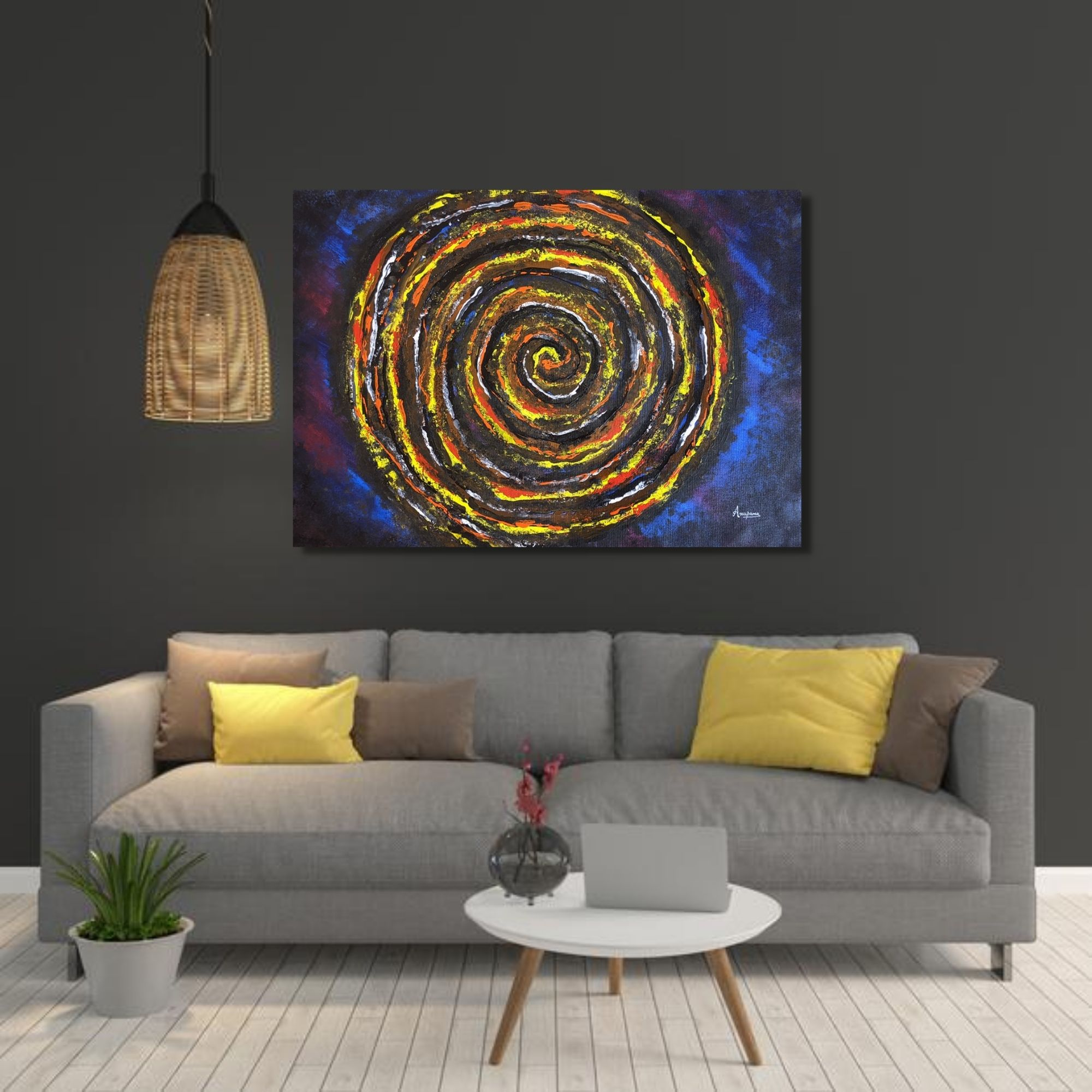 Topic- Dimensions of Abyss | Acrylic on canvas | Size - 24″ X 17″ inch
