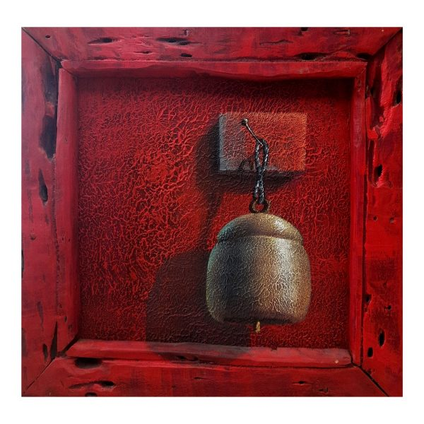 Bell 2 - 12 x 12 inch Acrylic on canvas