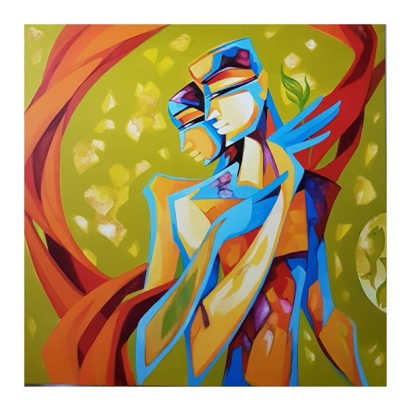 Bonded by Love - 36x36 inch - Acrylic on canvas