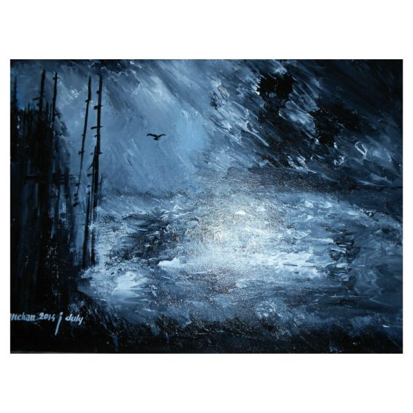 STORMS 2 - Size 20x24 inch - Surface CANVAS - Medium ACRYLIC COLOR
