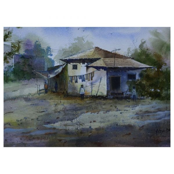 Ground Side House_24inchX18inch(Watercolor)
