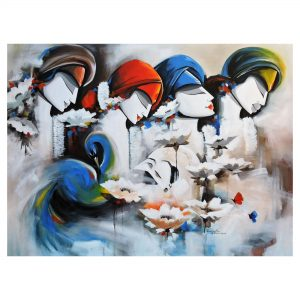 Relation (from Ramayana)-Acrylic on Canvas-36X48 Inch