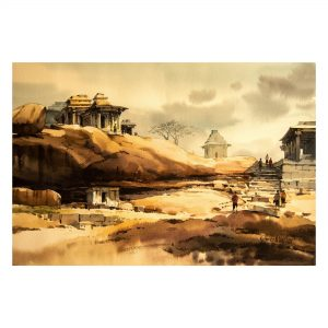 Hemakuta Hill (Vol 2)_Watercolour on Saunders Waterford Paper_15x22 (Inch)