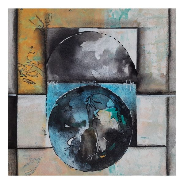 Relation (Vol 27)_Mixed Media on Paper_10x10 (inch)