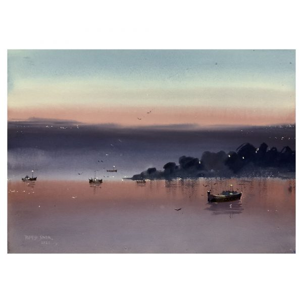 Evening (Vol 2)_Watercolor on Paper_14×20 (inch)