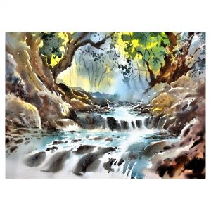 Tranquility 4 - Watercolour - 30 X 22 inch