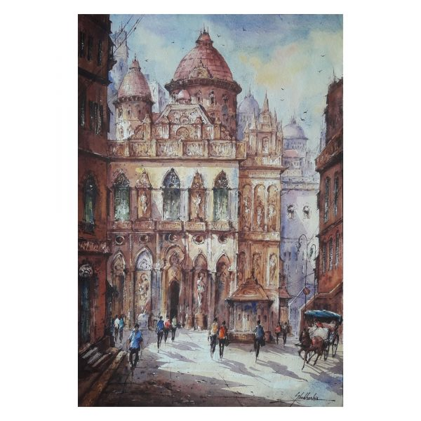 Church in Italy - Watercolor on Handmade Paper - 22×15 Inch
