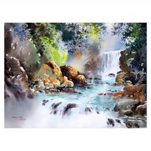 Tranquility 3 - Watercolour - 30 X 22 inch