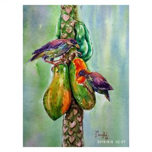 Beauty of Nature - Water colour on Paper - 40x28 Inch