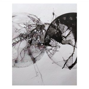 Reflection of World_Drawing on Paper_12X14 (Inch.)