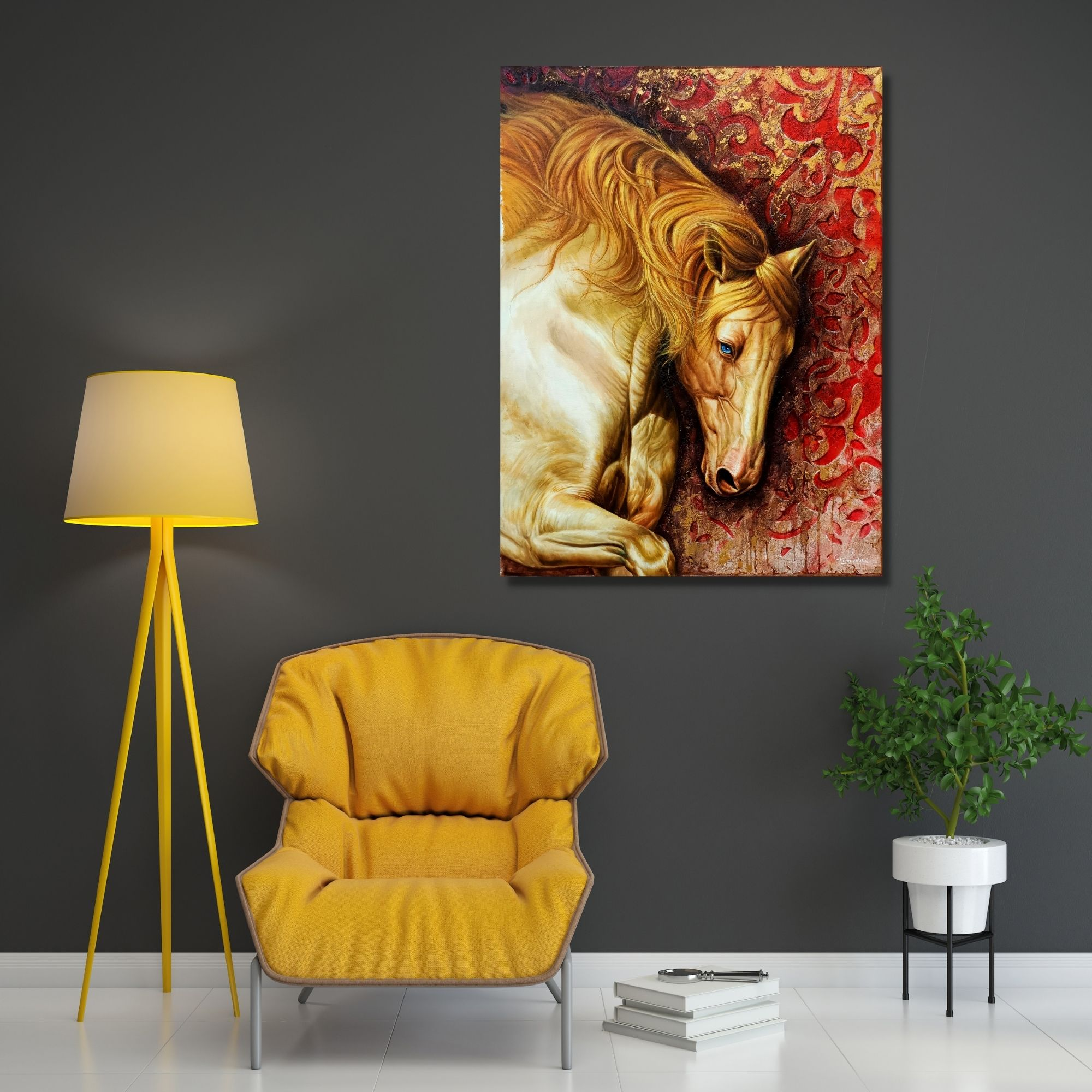 The Royal Horses (Vol 2)_Oil on Canvas_30x40 (Inch)