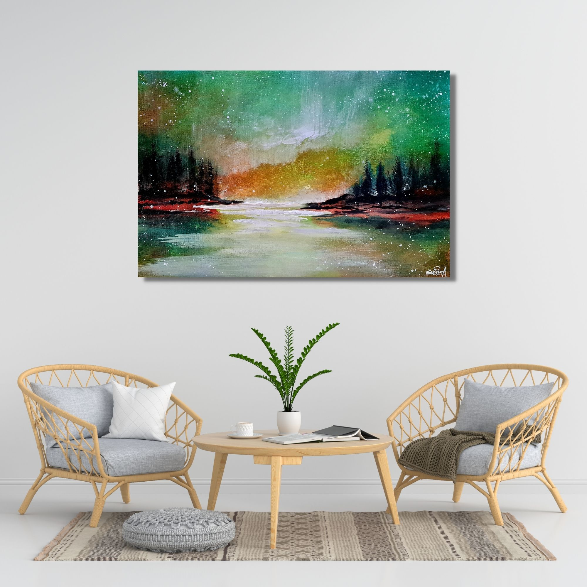 Light In The Sky - Acrylic on canvas - 16-24 inches
