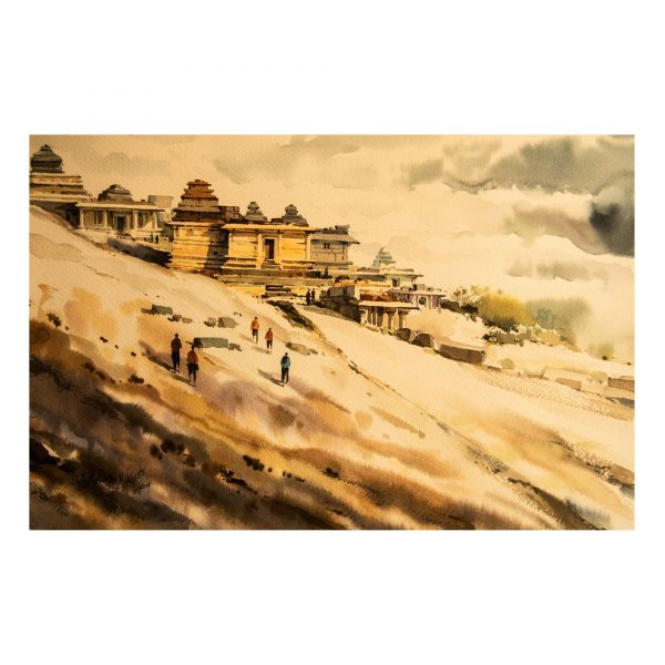 Hemakuta Hill (Vol 1)_Watercolour on Saunders Waterford Paper_15x22 (Inch)