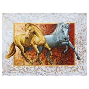 The Royal Horses (Vol 1)_Oil on Canvas_36x48 (Inch)