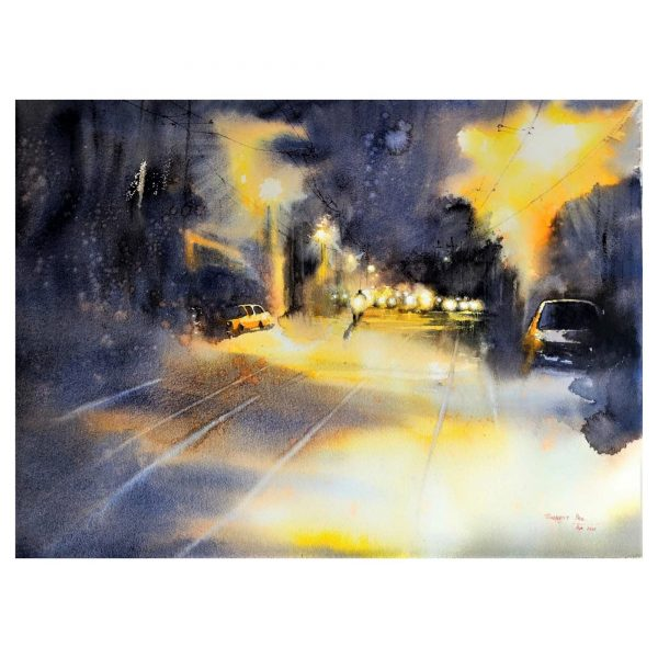 The late evening 3 - Watercolour - 30 X 22 inch