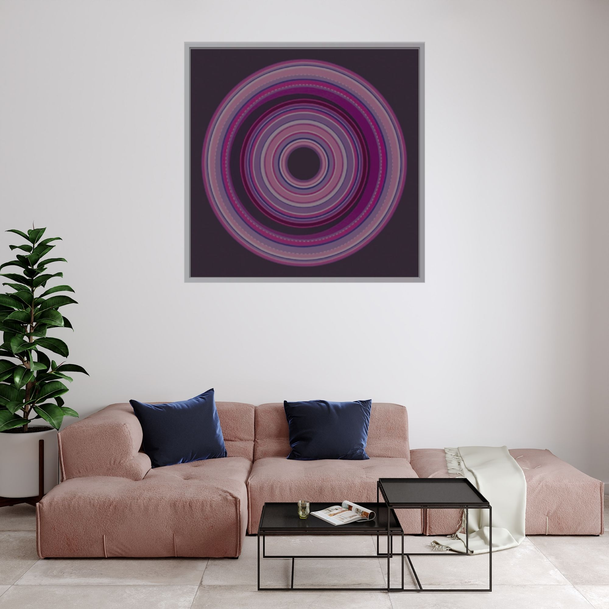 Circle Of Life (Vol 21)_Acrylic on Canvas_24x24 inches