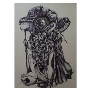 Kali-A Surrealistic Thought_Pen Ink on Paper_8x11 (inch)