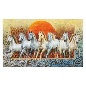 The Rising Horses_Oil on Canvas_36x60 (Inch)