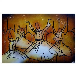 The Whirling Sufi - Acrylic on Canvas - 24x36 Inch